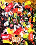 """""""ich? wo?"""" Gestringen, im Jahre 1988, Werkverzeichnis 12, Ölfarbe auf Leinwand, b 40,0 cm x h 50,0 cm"""