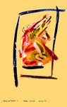"""""""Grenzen der Freiheit"""" 1 Werkverzeichnis 1.910 Datiert Boddin, 13.02.99 Diverse Farben auf dunkelbeschem Papier Maße b 29,7 cm * h 42,0 cm"""