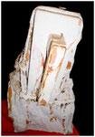 """""""Brennholzskulptur Trutzer"""" 07.1994, WVZ 419, Brennholzscheite mit Seilen, weiteren Materialien + Farbe, b max. 23,0 cm * h max.42,0 cm"""