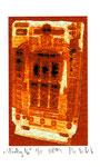 """""""Lucky 16"""" / Werkverzeichnis 2.259 / datiert 08.99 / Fotoveränderung von Spielautomaten als Tintenstrahldruck auf Papier / b 10,5 cm * h 15,0 cm"""