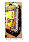 """""""Lucky 13"""" / Werkverzeichnis 2.256 / datiert 08.99 / Fotoveränderung von Spielautomaten als Tintenstrahldruck auf Papier / b 10,5 cm * h 15,0 cm"""