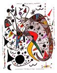 """""""Landschaftern mit 4 Titeln"""" 12.-15.09.95 / Nachträge WVZ Textilfarbe und Materialien auf Papier / b 42,0 cm * h 57,0 cm"""