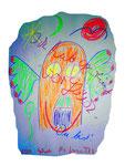 """""""Ich hab geweint vor Glück"""" / WVZ Nachträge / Göhrde, 08.00 / Aquarell, Kreide und Buntstift auf Papier / Maße 42,0 cm * h 59,4 cm"""