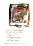 """""""Gratisvorstellung der Zufriedenheit"""" / Werkverzeichnis 2.059, datiert Espelkamp, 19.05.1999, Zigarre, Asche, Filzstift, Aquarell und Text auf Papier, Maße b 21,0 cm * h 29,7 cm"""
