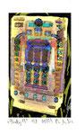 """""""Lucky 19"""" / Werkverzeichnis 2.262 / datiert 08.99 / Fotoveränderung von Spielautomaten als Tintenstrahldruck auf Papier / b 10,5 cm * h 15,0 cm"""