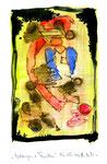 """""""Gefangene Farben"""" / WVZ 3.130 / 06.09.00 / Aquarell, Tusche und Bleistift auf Papier / Maße 21,0 cm * h 29,7 cm"""