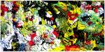 """""""Urlaub"""" Gestringen, den 21.06.1987, Werkverzeichnis 82, Acryl auf Leinwand, b 60,0 cm x h 29,0 cm"""