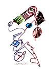 """""""o. T."""" 7, WVZ 959 / datiert 21.03.1996 / Filzstift und Bleistift auf Papier / b 30,0 cm * 40,0 cm"""