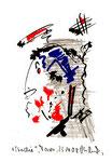 """""""Studie"""" /  Torrox, 23.10.08 / Original Grafik mit Bleistift, Tusche, Filzstift auf Aquarellpapier / B 14,7 cm * H 21,0 cm / Werkverzeichnis 3.802"""