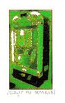 """""""Lucky 11"""" / Werkverzeichnis 2.254 / datiert 08.99 / Fotoveränderung von Spielautomaten als Tintenstrahldruck auf Papier / b 10,5 cm * h 15,0 cm"""