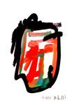 """""""o.T. IX"""" / Werkverzeichnis 1.709 / datiert 20.08.98 / Aquarell und Tusche auf Papier / Maße b 30,0 cm * h 42,0 cm"""