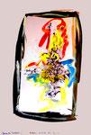 """""""Grenzen der Freiheit"""" 2 Werkverzeichnis 1.911 / datiert Boddin, 13.02.99 / diverse Farben auf hellem Papier / Maße b 29,7 cm * h 42,0 cm"""