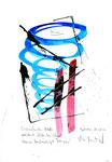"""""""Erquickendes Naß"""" / Werkverzeichnis 3.028 / datiert 11.08.2000 / Aquarell, Tusche und Text auf Papier / Maße b 21,0 cm * h 29,7 cm"""