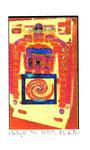 """""""Lucky 4"""" / Werkverzeichnis 2.247 / datiert 08.99 / Fotoveränderung von Spielautomaten als Tintenstrahldruck auf Papier / b 10,5 cm * h 15,0 cm"""