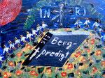 """""""Bergpredigt"""" Gestringen, 18.05.1987, Werkverzeichnis 79, Ölfarben auf Leinwand, b 40,0 cm x h 30,0 cm"""