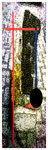 """""""Kokade II"""" / Werkverzeichnis 2.220 / datiert 24.07.99 / Fotoveränderung von Öfen als Tintenstrahldruck auf Papier / Maße b 42,0 cm * h 59,4 cm"""