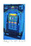 """""""Lucky 5"""" / Werkverzeichnis 2.248 / datiert 08.99 / Fotoveränderung von Spielautomaten als Tintenstrahldruck auf Papier / b 10,5 cm * h 15,0 cm"""