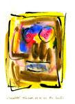 """""""Spiegelbild"""" WVZ 3.284 / datiert Wiesmoor, 13.12.00 / Tusche, Aquarell, Asche auf Papier / b 21,0 cm * h 29,7 cm"""