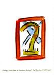 """""""Verbogener Sonnenstrahl vor kreuzendem Luftzug"""" / WVZ 2.086 / datiert Bad Sobernheim, 25.06.99 / Aquarell (z.T. Bleistift, Tinte, Tusche, Filzstift) auf Papier / Maße b 21,0 cm * h 29,7 cm"""