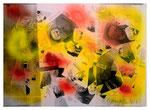 """Copy-Art - Serie von 6 Arbeiten: """"Peter Aumann / Ramon Rose über 50 Jahre Unterschied als Mitglieder des Rates der Stadt Espelkamp"""" 3 von 6 10.1994, Werkverzeichnis 428, kopierte Collage aus Bildern und Zeitungsausschnitten mit Sprühlack bearbeitet"""