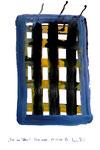 """""""Tor ins Leben"""" / Werkverzeichnis 3.297 / datiert Wiesmoor, 14.12.00 / diverse Farben und Tusche auf Papier / Maße b 29,7 cm * h 42,0 cm"""