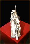 """Materialmontage """"Kinderland - abgebrannt"""" Werkverzeichnis 1.003 / aus 7.1996 Ein Werk gegen die Gewalt, Arbeitsausbeutung und sexuelle Ausbeutung von Kindern, wie seinerzeit in Belgien geschehen."""