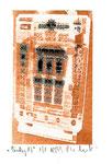 """""""Lucky 17"""" / Werkverzeichnis 2.260 / datiert 08.99 / Fotoveränderung von Spielautomaten als Tintenstrahldruck auf Papier / b 10,5 cm * h 15,0 cm"""