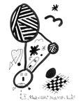 """III """"Black + Withe"""", Werkverzeichnis 507, vom 24.03.1995, Textilfarbe schwarz auf Papier, Größe b 11,0 cm * h 15,0 cm."""