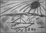 """""""o. T. (10)"""" Blieskastel, den 11.03.1987, Werkverzeichnis 71, Kohle auf Papier, b 42,0 cm x h 30,0 cm"""