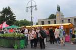Öko-Stände beim Umweltfestival der Grünen Liga, vor dem Sowjetischen Ehrenmal beim Brandenburger Tor. Foto: Helga Karl