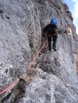 Im oberen Teil des Steinerweges am Weg zum nächsten Kamin