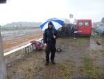 Nicht nur eitel Sonnenschein - 2. Vorlauf im Regen ...