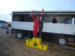 Die Sieger der Gesamtsiegerläufe 1 und 2 Dustin Hahn und Christian Dilissen