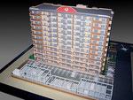 1/100マンション模型 約60万円