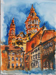 Mainzer Dom 2 - Mixed Media 30x40 cm