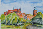 Frauenburg - Aquarell 30x40