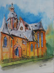 Stephanskirche 2 -  Mixed Media 30x40 cm