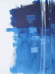 Blau-Weiß Nr.1 - 60x80 cm