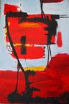 Abstrakt Rot-Schwarz - 80x120 cm