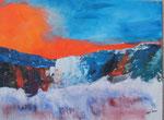 Gletscher am Abend - 60x80 cm
