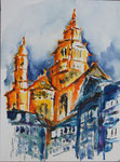Mainzer Dom 1 - Mixed Media 30x40 cm