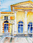 Plauen Theater - Aquarell 38x56 cm