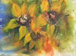 Sonnenblumen - Mixed Media 30x40 cm