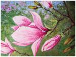 """""""Magnolienblüten""""  60 x 80 cm"""