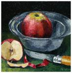 """""""Geschälter Apfel""""  30 x 30 cm"""