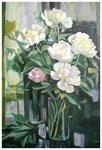 """Pfingstrosen""  nach Alexander Koester  70 x 50 cm (verkauft)"