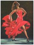 """Flamenco rot""  40 x 30 cm"