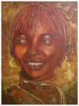 """Afrikanerin II"" 80 x 60 cm (verkauft)"