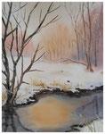 """""""Wintermorgen""""   24 x 30 cm"""