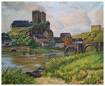 """Burg I""  40 x 50 cm (Auftragsarbeit)"